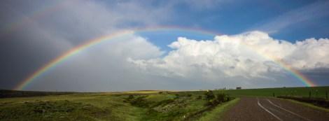 Rainbow pano on Brohaugh Road