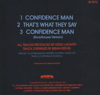Confidence Man - CD single - back