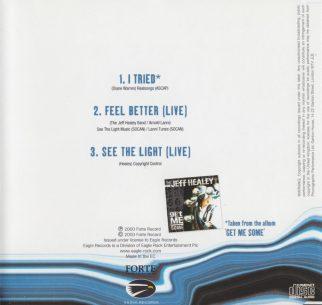 I Tried - CD single - back