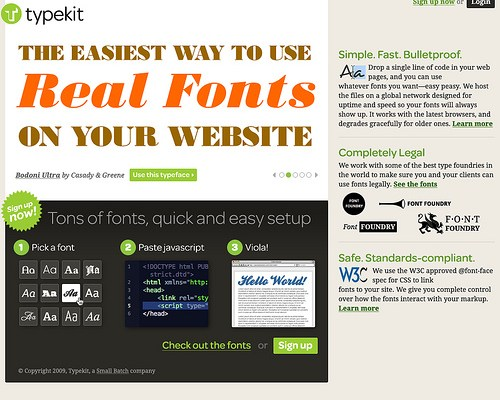 Typekit: Real Fonts on Your Website