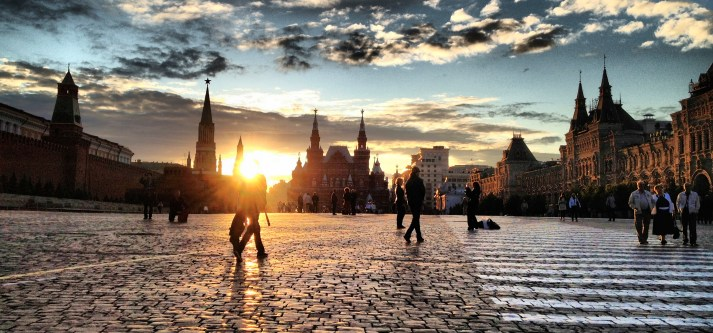 Red Square at Sunset