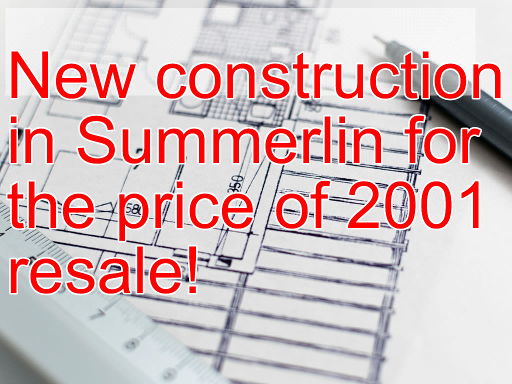 Buy a Brand New Home in Summerlin for Less than you Think…