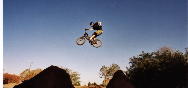 Jeff KW riding BMX.