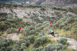 Jeff Kendall-Weed and kids from the group ride in Kamloops, B.C.