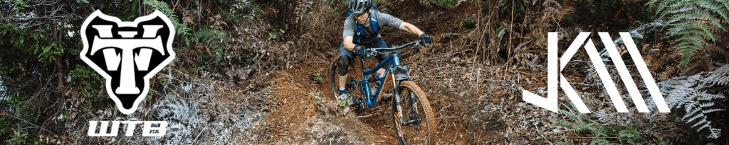 Banner advertisement for Wilderness Trail Bikes and Jeff Kendall-Weed partnership