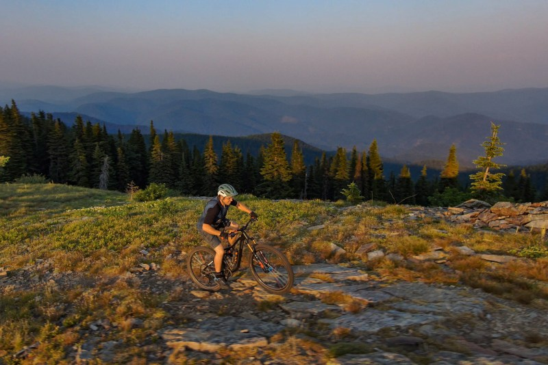 The riding in Idaho is drier than Washington, but it's still excellent.