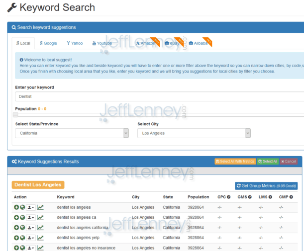 Keyword Supremacy Local KW Research Tool