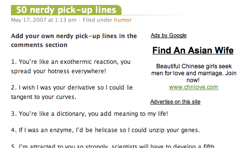 dictionary pick up line