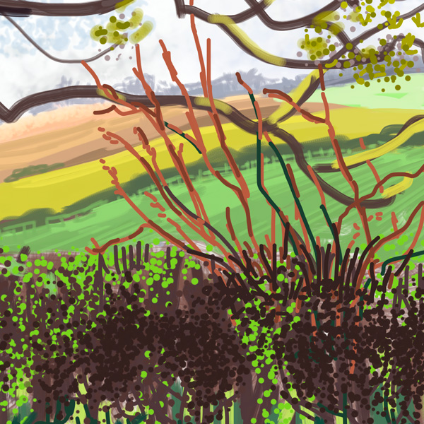 detail of Spring Tree at Oulston