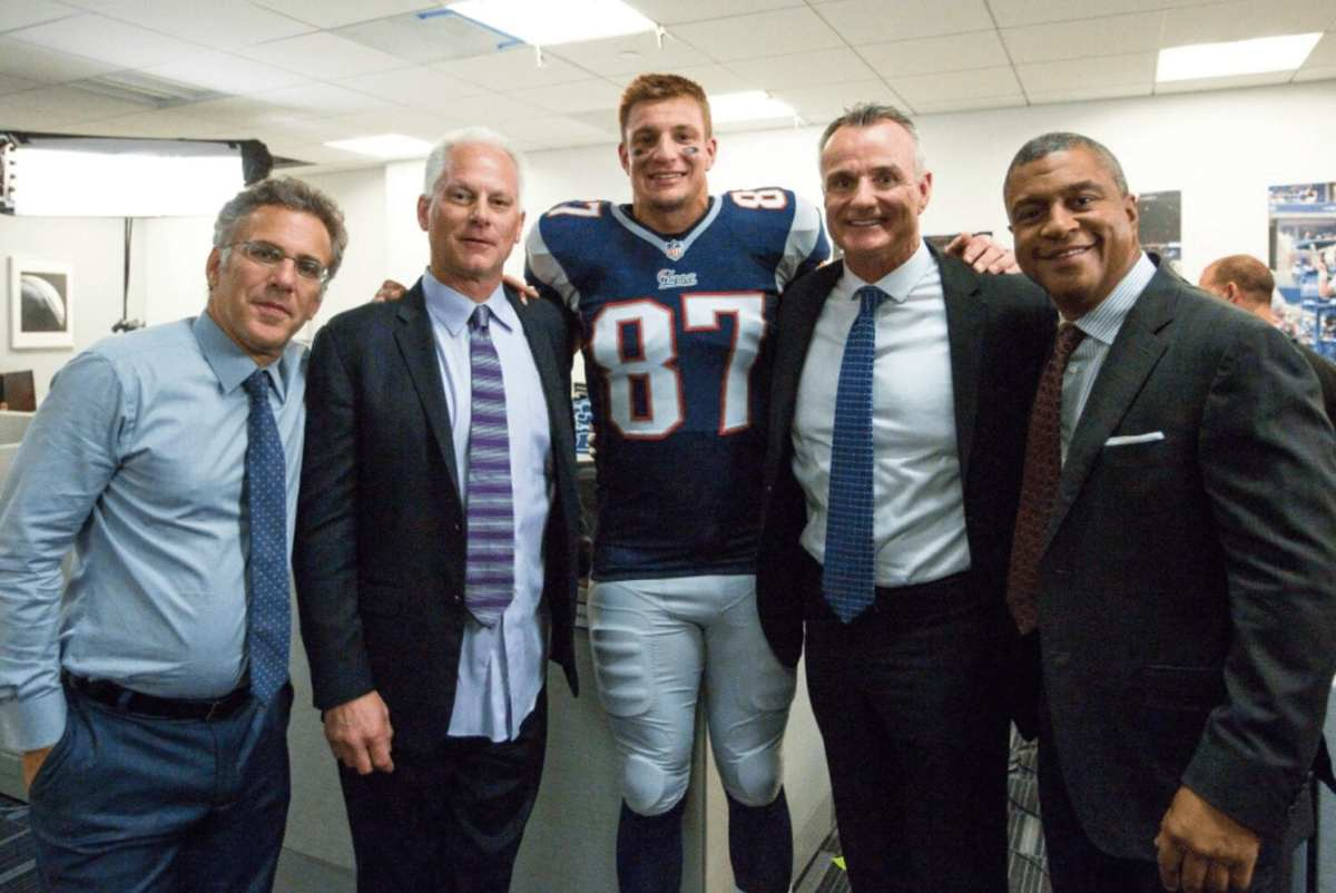 (L-R) Neil Everett, Kenny Mayne, Rob Gronkowski, Gordon Gronkowski and Stan.