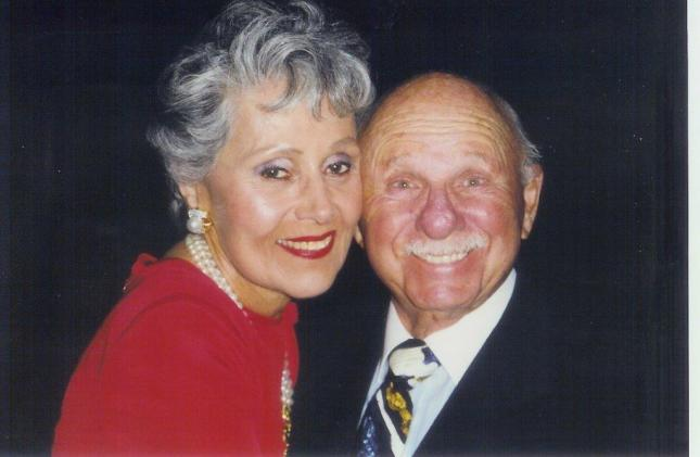 With Phil Shapiro, her late husband.