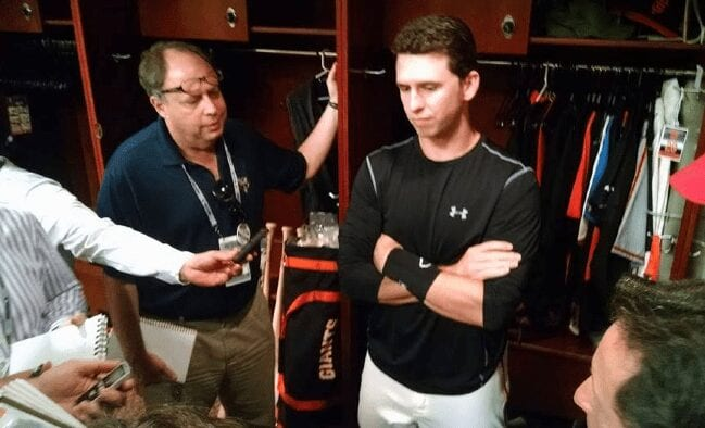 Listening to the deep musings of Buster Posey.