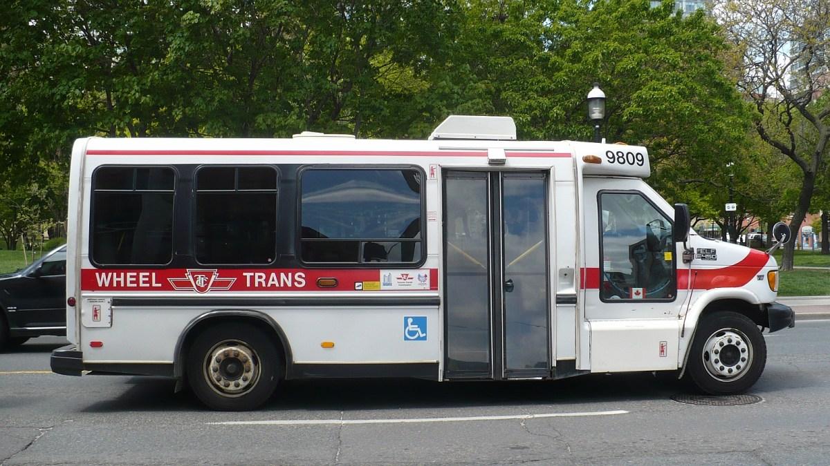 Side profile of a TTC Wheeltrans bus
