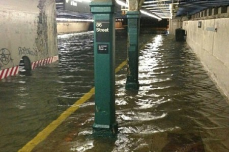 Hurricane Sandy Subway Flooding