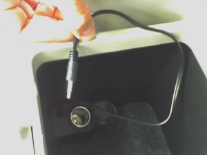 Subaru Glovebox with FM Transmitter Cable