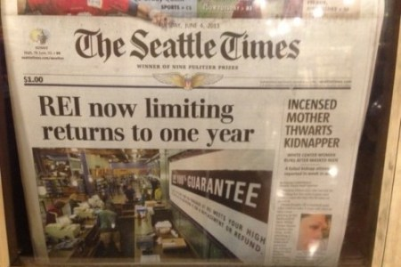 What Passes for Front Page News at The Seattle Times