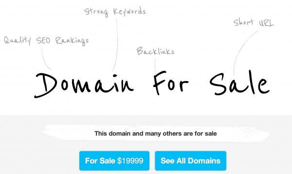 Parking Theme to Sell Your Domain Name