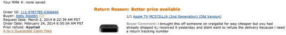 Click to enlarge. Return reason: Better Price available
