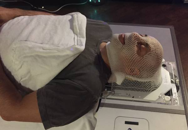 CyberKnife radiation mask
