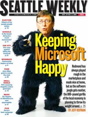 Bill Gates in Gorilla suit