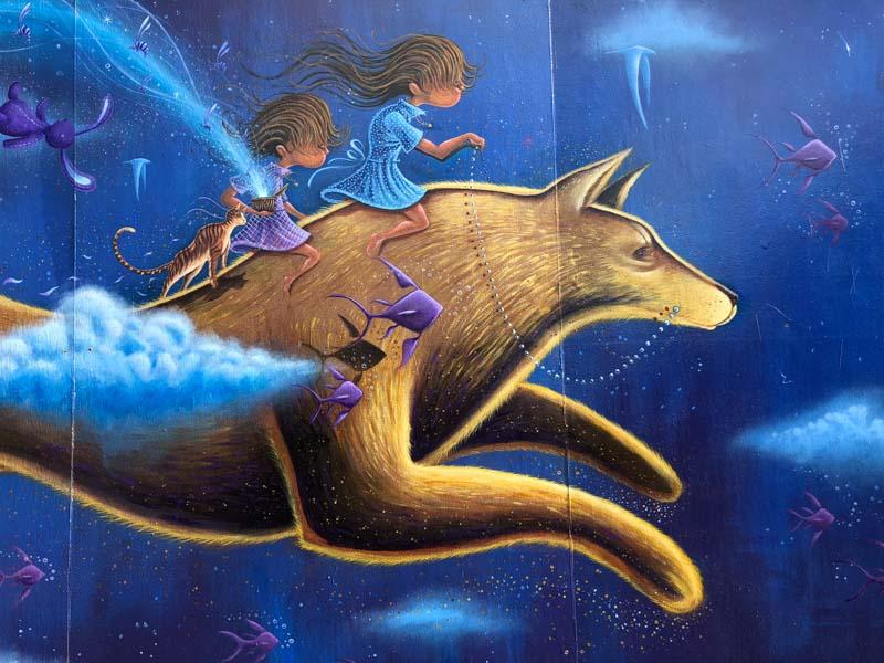 hawthorne portland murals girls wolf