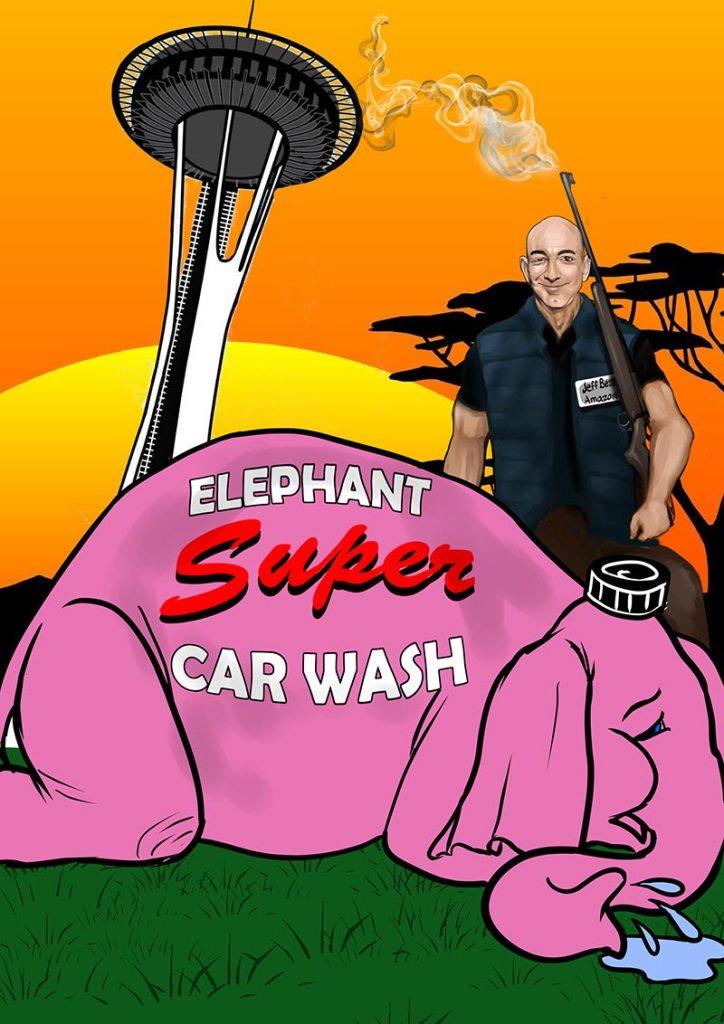 Day Two: Jeff Bezos hunts down Elephant Super Car Wash