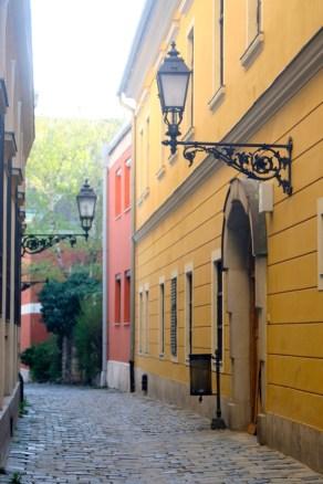 Castle side street.