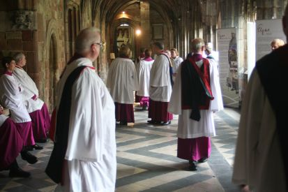 In the Cloister prior to Evensong.