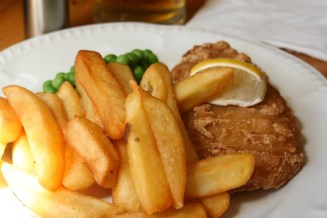 Fish & chips for lunch.