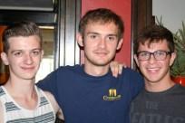 My three freshman guys: Christian, Lucas, Jacob