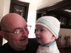 With baby Benjamin last evening.
