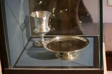 Communion vessels from the castle prison (1800s).
