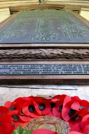 Every parish has a World War I memorial.