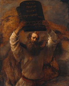 Rembrandt Moses with the Ten Commandments