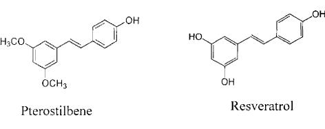 Resveratrol and Pterostilbene