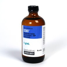 004001 SSKI (Potassium Iodide Oral Solution, USP), 1gm per mL, 240mL Dropper Bottle McGuffMedical.com