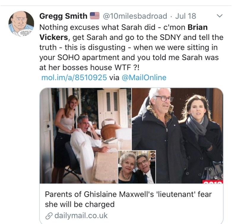 Sarah Kellen Brian Vickers