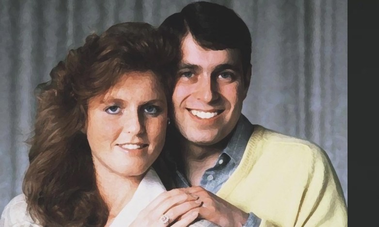 Prince Andrew and Sarah Fergie Ferguson in an official portrait