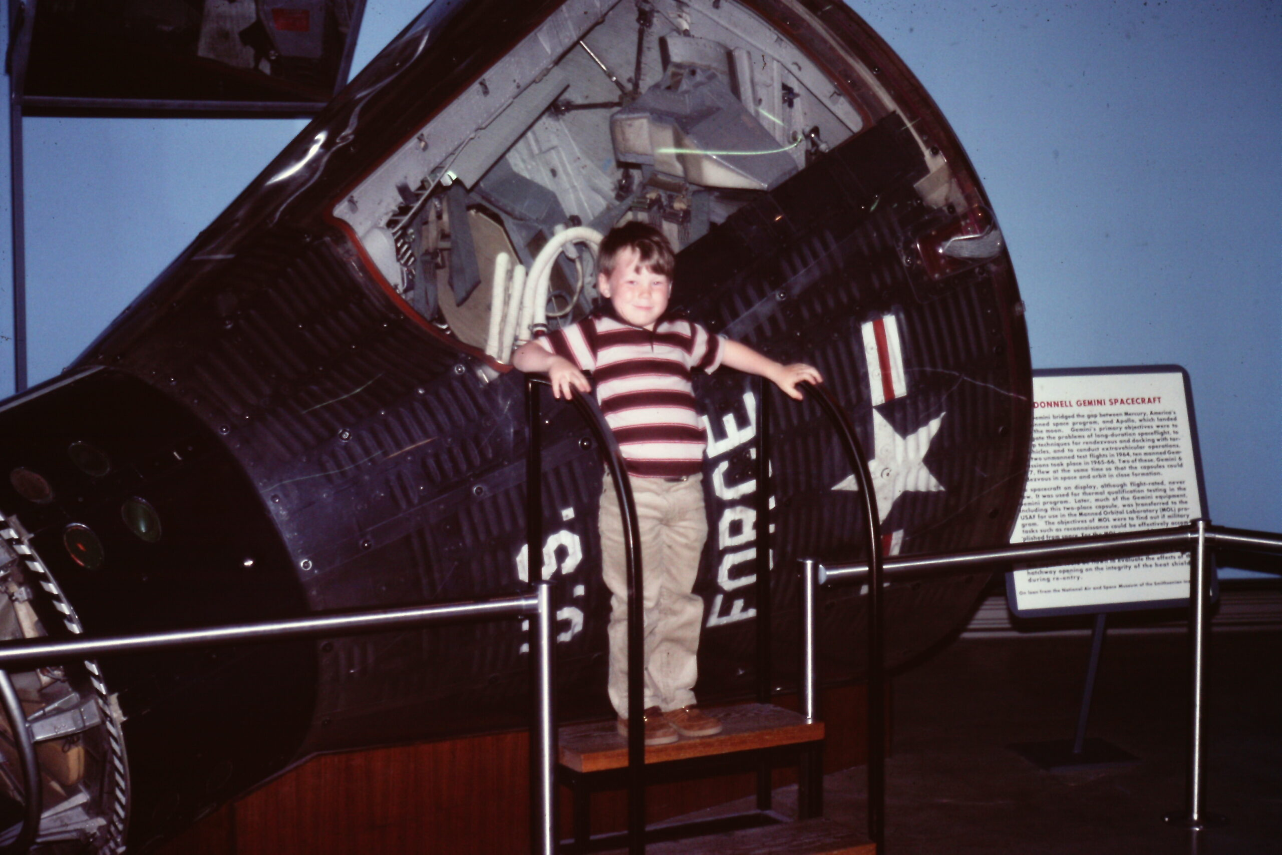 Me with a space capsule in 1983