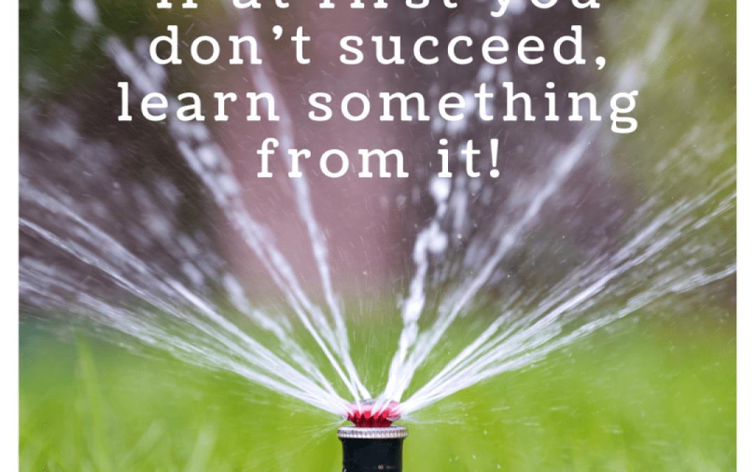 If at first you don't succeed, learn something from it!