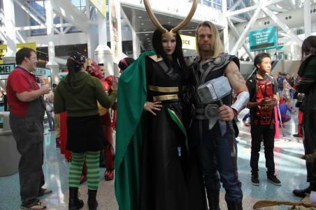Katieasaur Cosplay as Loki with Thor