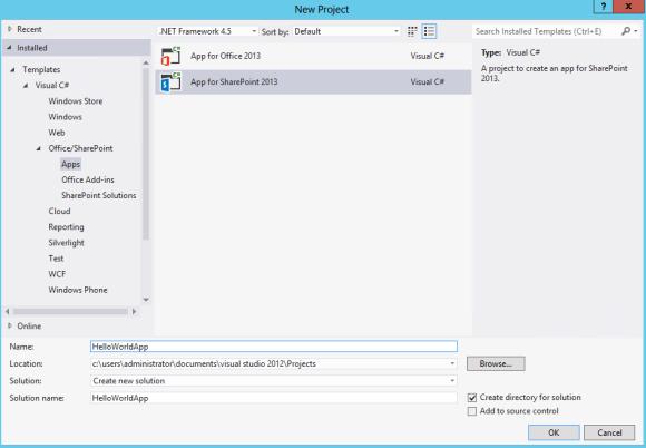 Create an App with Visual Studio