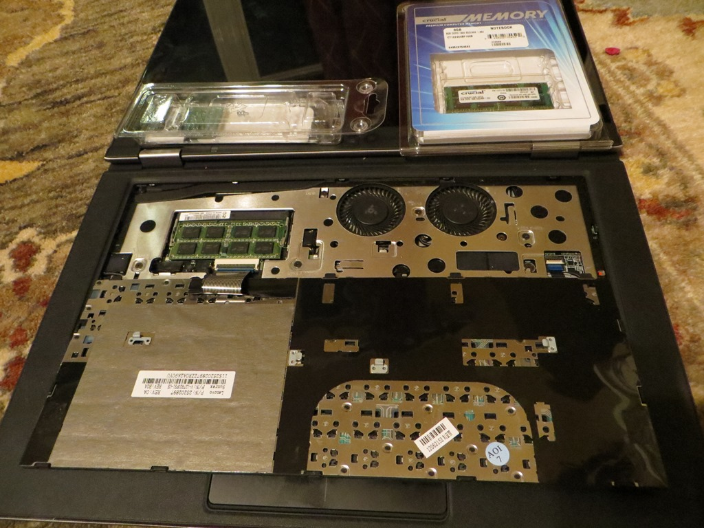 Adding a second SSD to my Lenovo Yoga & 8GB RAM