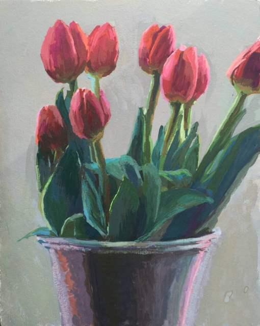 Tulips   gouache   Jeffrey Smith