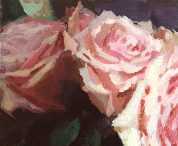 Soft Pink Roses - detail | Jeffrey Smith Art