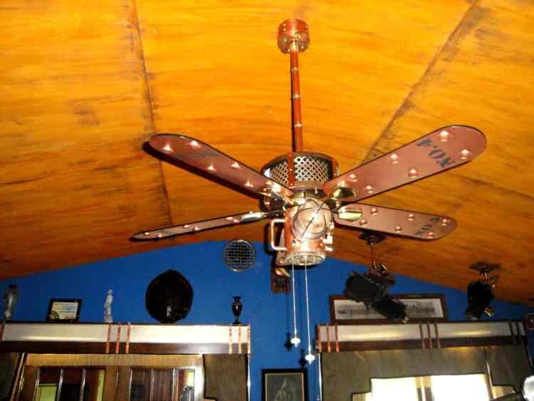 23 Steampunk Ceiling Fan