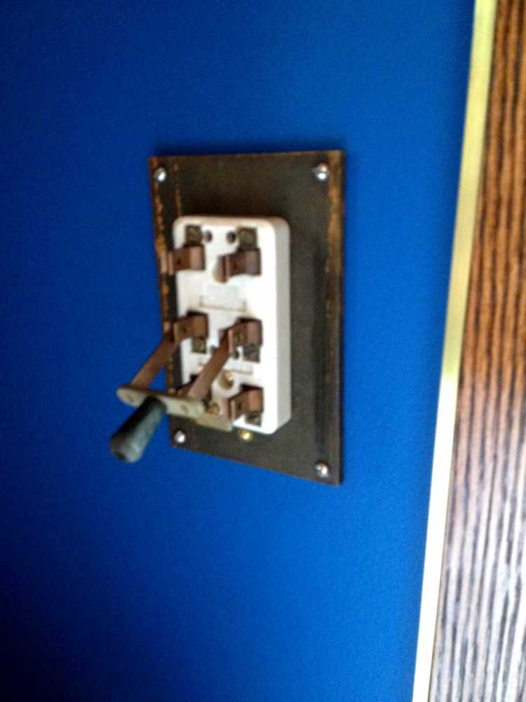 Steampunk Teslapunk Light Switch