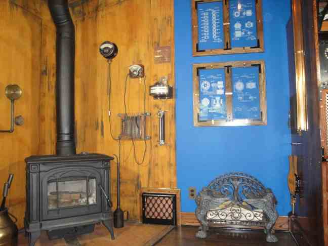3 Steampunk Fireplace Glass Frames