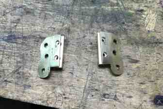 13 Brass hinge cut and tapped