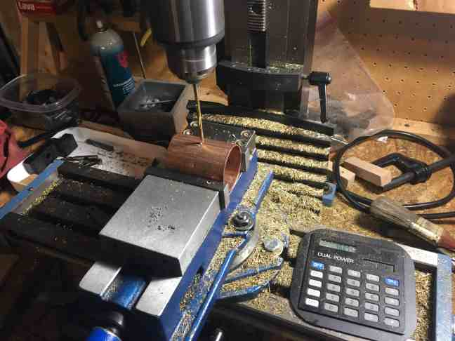 21 Drilling the copper